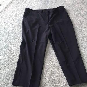 Navy long dress pants!  Short.